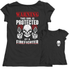 Image of Limited Edition - Warning This Girl is Protected by a FireFIghter, Unisex Shirt  | Evan Mila - EvanMila.com