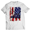 Image of Limited Edition - American Flag Blue Helmet, Unisex Shirt  | Evan Mila - EvanMila.com