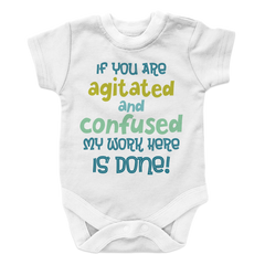 Agitated And Confused - 2, Onesies  | Evan Mila - EvanMila.com