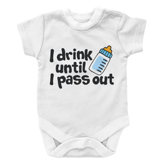 Cry Drink Pass Out -2, Onesies  | Evan Mila - EvanMila.com