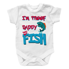 Daddy Does Not Fish All The Time -2, Onesies  | Evan Mila - EvanMila.com