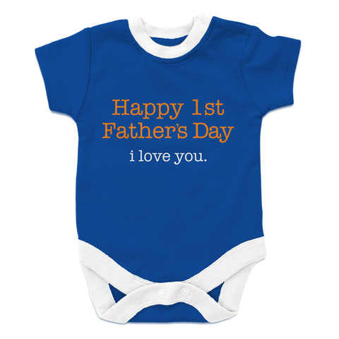 Happy 1st Father's Day I love you-boy, Onesies  | Evan Mila - EvanMila.com