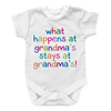 What Happens at Grandmas Stays at Grandmas, Onesies  | Evan Mila - EvanMila.com
