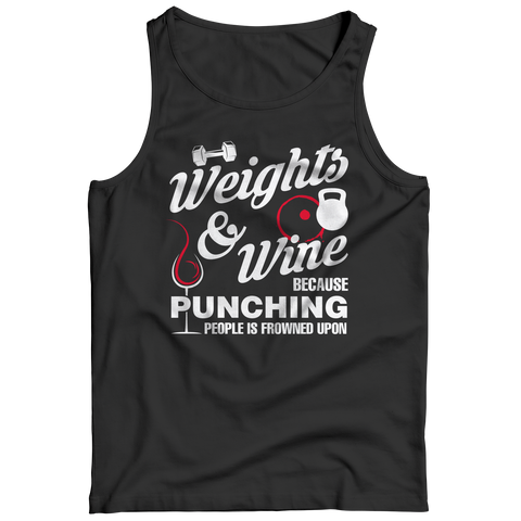 Weights And Wine, Tank Top  | Evan Mila - EvanMila.com