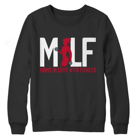 MILF Moms In Love With Fitness, Crewneck Fleece  | Evan Mila - EvanMila.com