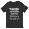 Put Christ Back In Christianity, Ladies V-Neck  | Evan Mila - EvanMila.com