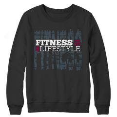 Fitness Is My Life Style, Crewneck Fleece  | Evan Mila - EvanMila.com