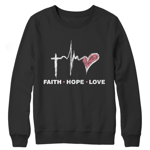 Faith Hope Love, Crewneck Fleece  | Evan Mila - EvanMila.com
