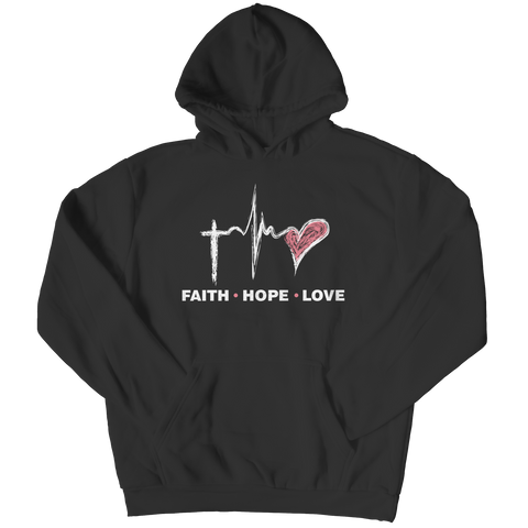 Faith Hope Love, Hoodie  | Evan Mila - EvanMila.com