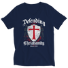 Image of Defending Christianity, Ladies V-Neck  | Evan Mila - EvanMila.com