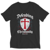 Defending Christianity, Ladies V-Neck  | Evan Mila - EvanMila.com