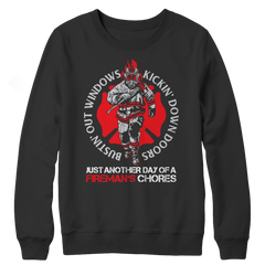 Bustin Out Windows, Crewneck Fleece  | Evan Mila - EvanMila.com