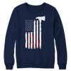 Image of Firefighter Axe Flag, Crewneck Fleece  | Evan Mila - EvanMila.com