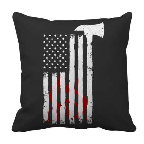 Firefighter Axe Flag, Pillow Cases  | Evan Mila - EvanMila.com