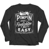 Image of Limited Edition - Try Pimpin cause being a firefighter ain't easy, Ladies V-Neck  | Evan Mila - EvanMila.com
