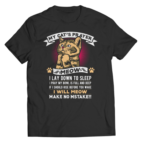 My Cat's Prayer, Unisex Shirt  | Evan Mila - EvanMila.com