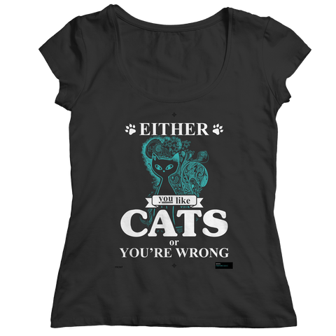 Either You Like Cats Or You're Wrong, Unisex Shirt  | Evan Mila - EvanMila.com