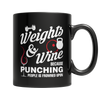 Weights And Wine, 11oz Black Mug  | Evan Mila - EvanMila.com