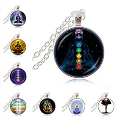 Necklace - 7 Chakra Meditating Reiki Healing Necklace Yoga Meditation Necklace