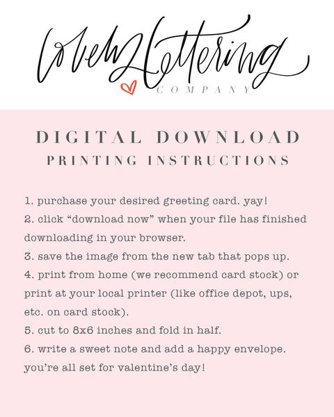 Bucket List Greeting Card - Digital Download - Sweet Love Collection
