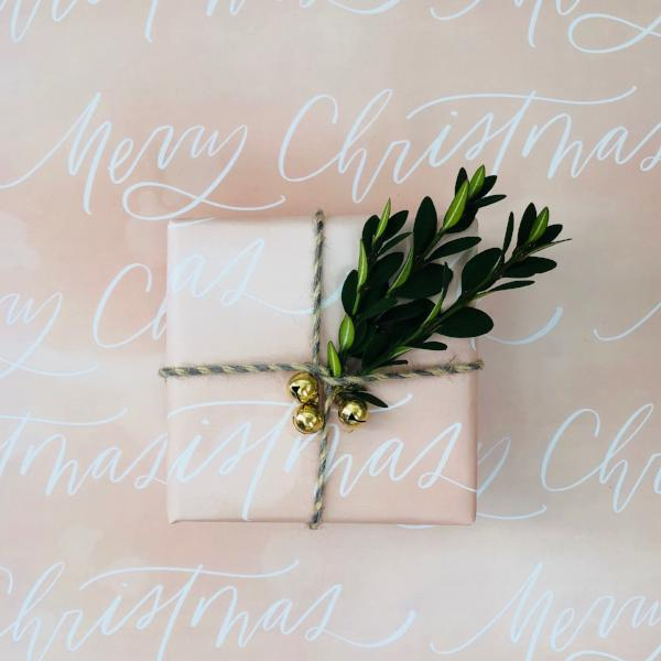 Merry Christmas - Blush Watercolor