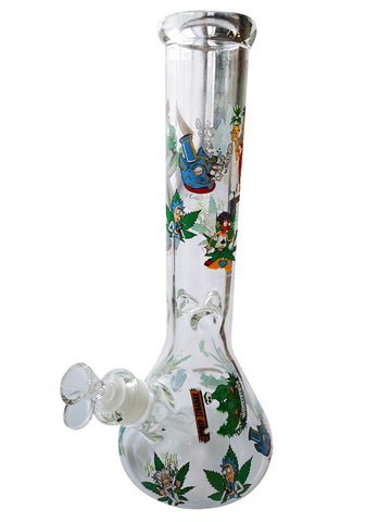 Rick & Morty Beaker style water pipe. 7mm thick glass