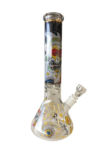 Rick and Morty Glass beaker water pipe