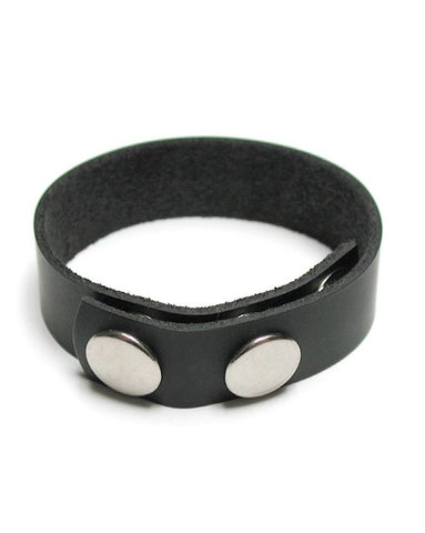 kinklab 3-SNAP Leather Cock Ring