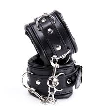 Black leather Cuffs
