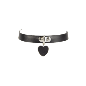 Love in Leather Choker with heart