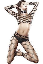 2 Piece Diamond Net Bodywear Set (one size)