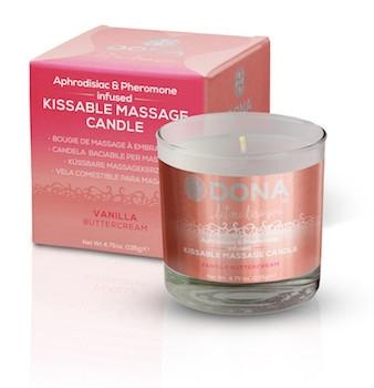 DONA KISSABLE MASSAGE CANDLE. Strawberry Souffle