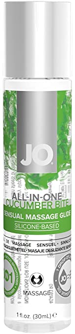 JO ALL-IN-ONE Sensual Massage Glide. CUCUMBER BITE. Silicone based.