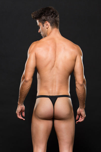 Envy Men Sport Thong: Black