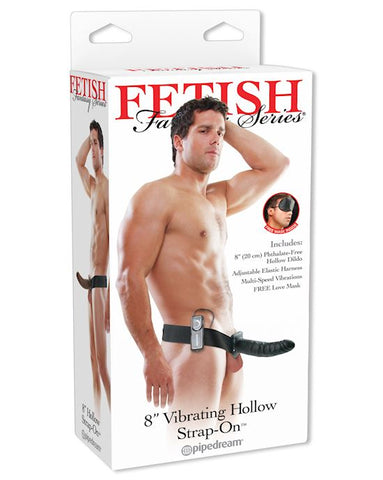 "Fetish Fantasy 8"" Vibrating Hollow Strap-On"