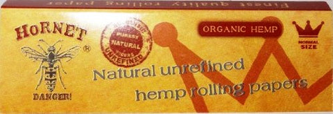 Hornet Kingsize Slim Rolling Papers & Tips: Organic Hemp
