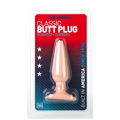 Doc Johnson Classic Butt Plug Smooth Medium