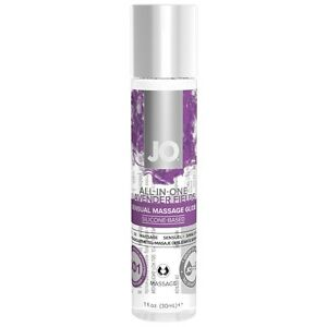 JO ALL-IN-ONE Sensual Massage Glide. Lavender Fields. Silicone based.