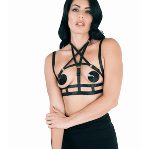 Love in Leather  Elastic Harness BRA025