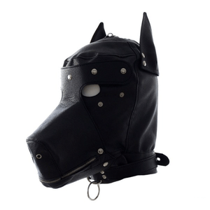 Love in Leather PVC DOG HOOD MASK