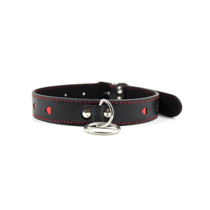 BERLIN BABY BLACK WITH RED HEART COLLAR
