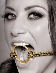 F/F Gold Open Mouth Gag