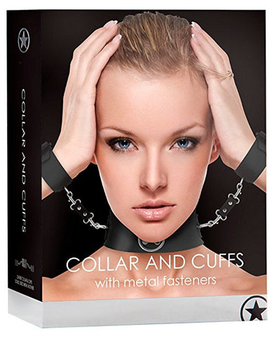 Collar & Cuffs with Metal Fastners