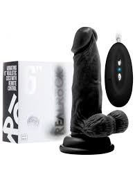 "REALROCK Remotely Vibrating Realistic 6"" With Scrotum. Flesh Colour Only"