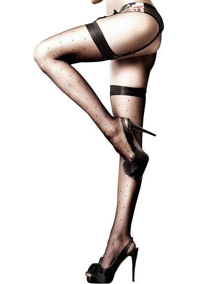Sheer Dot Thigh High Stockings (one size)