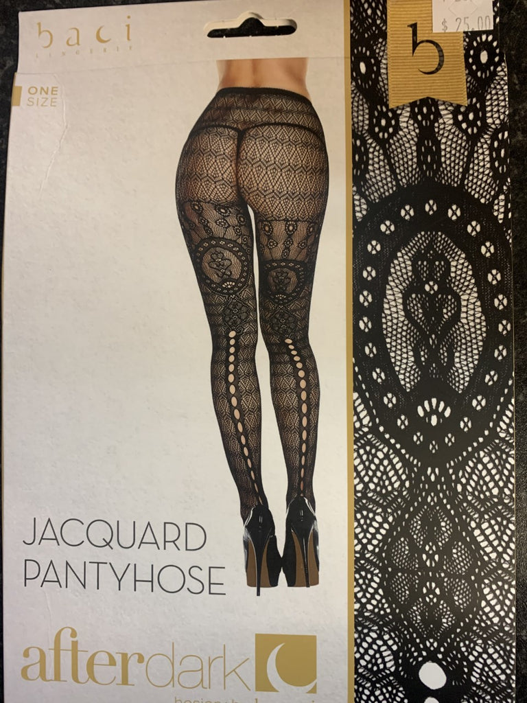 Baci After Dark Jacquard Pantyhose