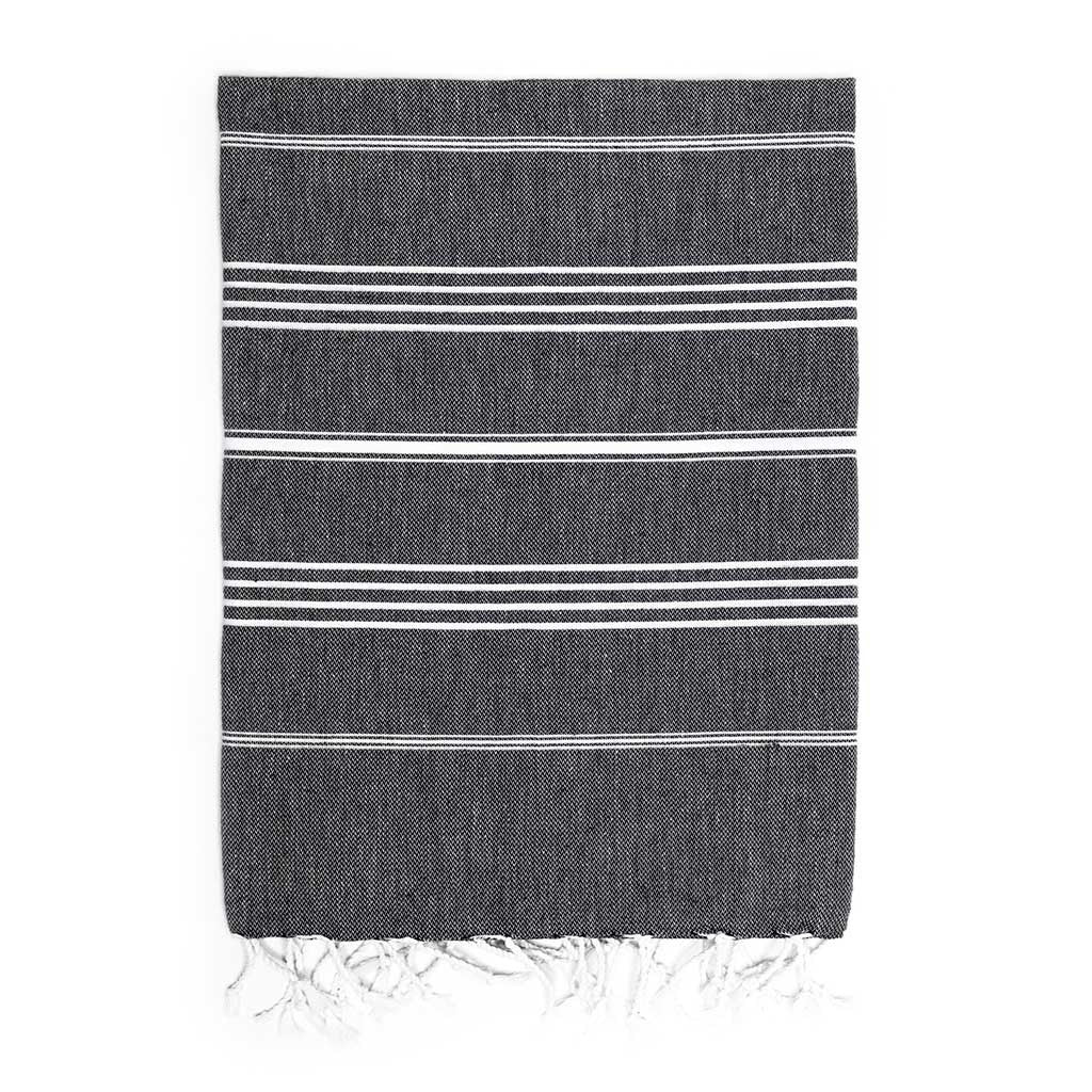 Stripes Towel (Black)