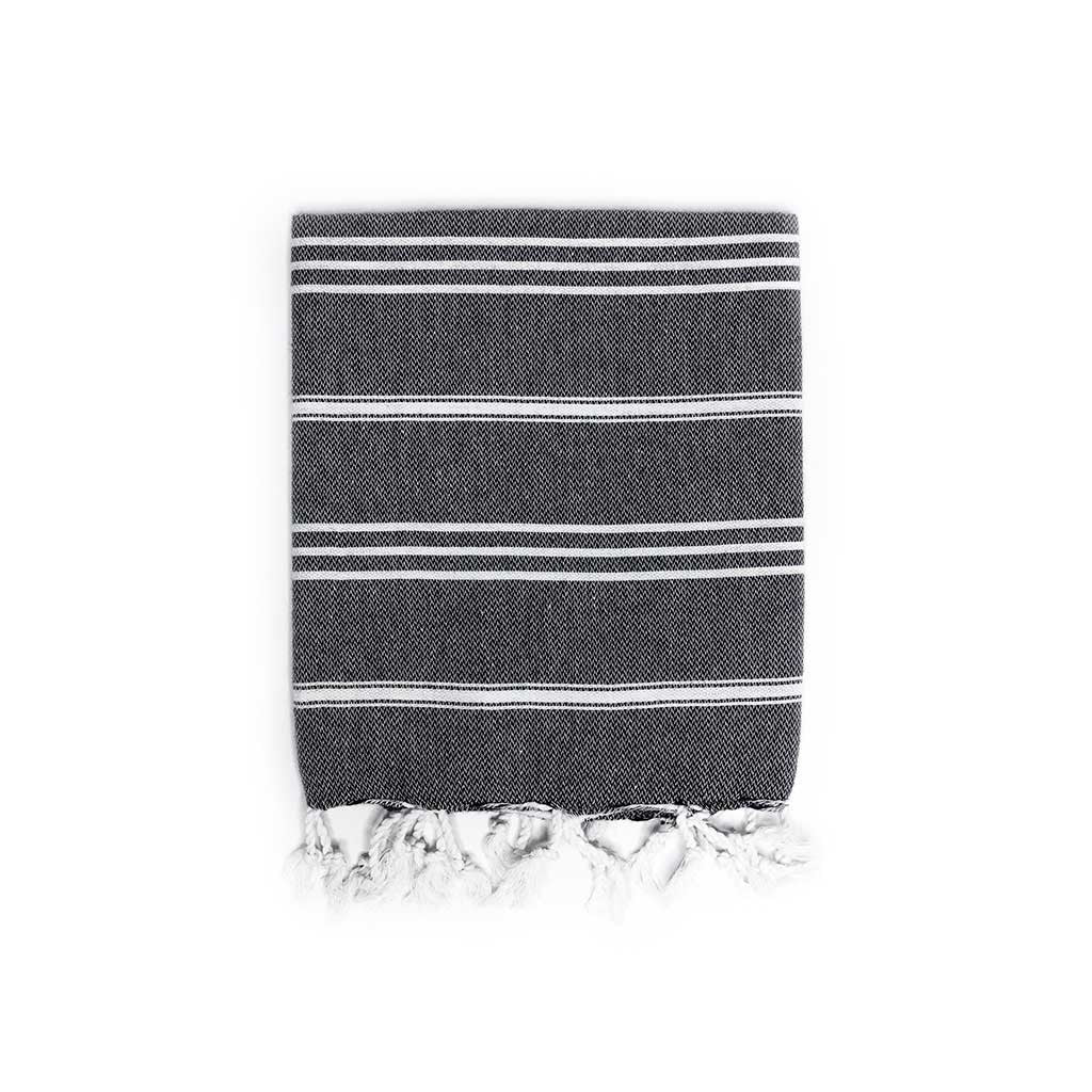 Stripes Hand Towel (Black)