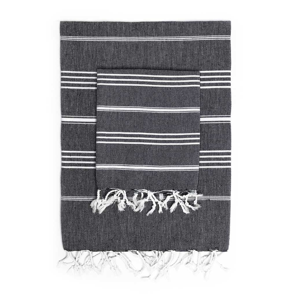 Stripes Towel Pack (Black)