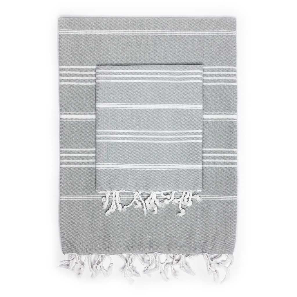 Stripes Towel Pack (Grey)